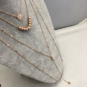 Loft Outlet Layered Rose Gold Pendant Necklace